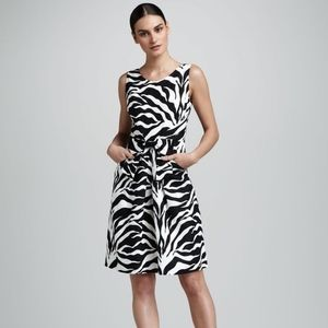 Kate Spade Jillian Zebra Print Dress